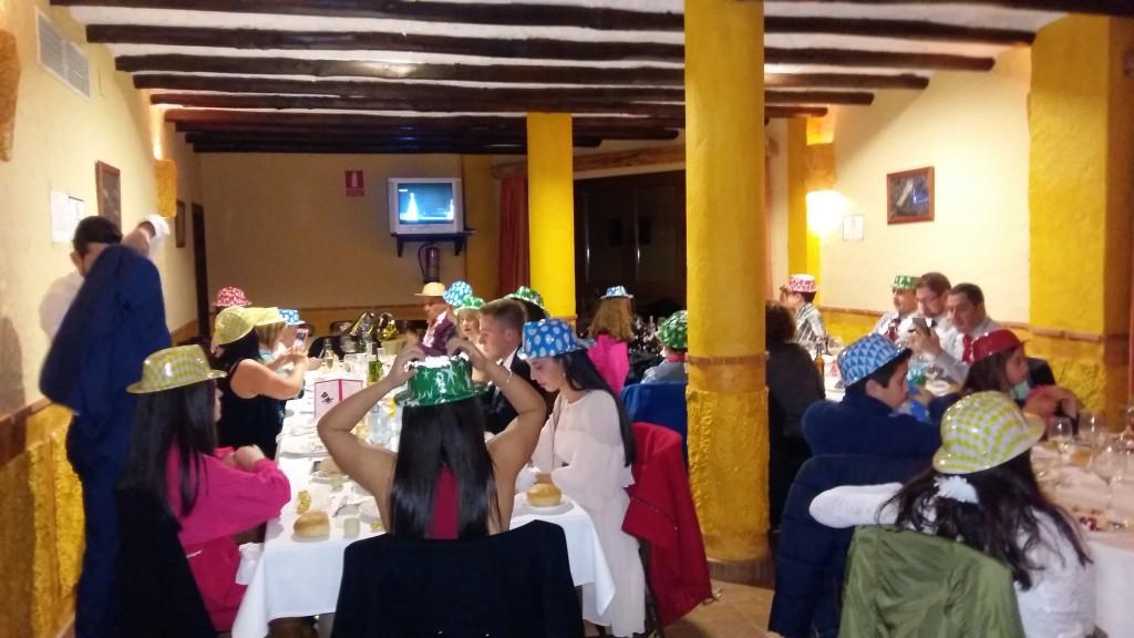 Cena cotillon en Bérchules  La Alpujarra